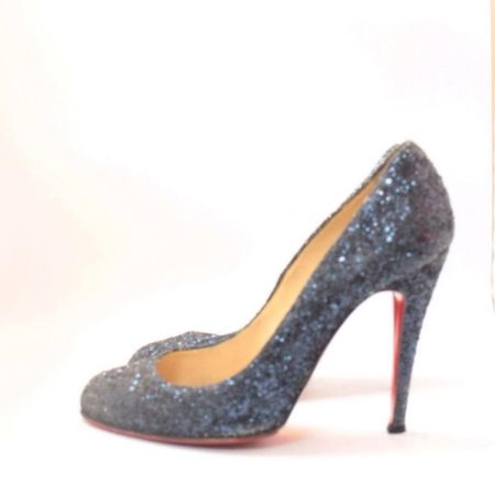 CHRISTIAN LOUBOUTIN Blue Sparkly Heels 5973 j