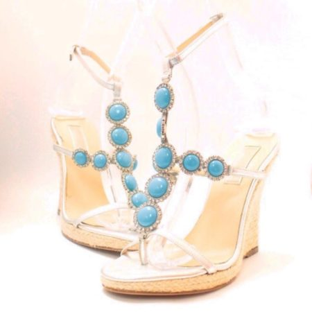 MICHAEL KORS Turquoise Wedges 6831 a