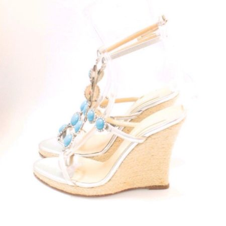MICHAEL KORS Turquoise Wedges 6831 d