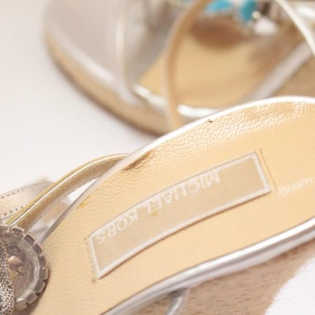MICHAEL KORS Turquoise Wedges 6831 f