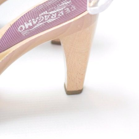 SALVATORE FERRAGAMO Lilac Sandal Platform Heels Size USA 8.5 Euro 38.5 Item8964 b