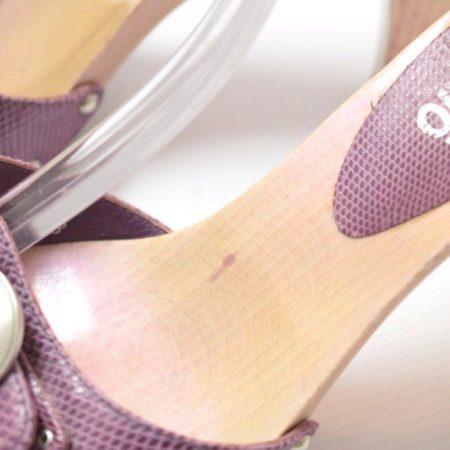 SALVATORE FERRAGAMO Lilac Sandal Platform Heels Size USA 8.5 Euro 38.5 Item8964 e