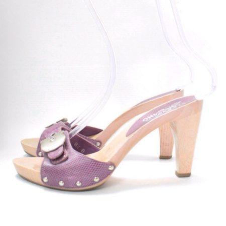 SALVATORE FERRAGAMO Lilac Sandal Platform Heels Size USA 8.5 Euro 38.5 Item8964 f