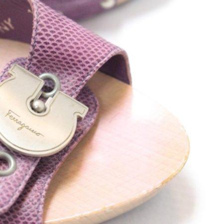 SALVATORE FERRAGAMO Lilac Sandal Platform Heels Size USA 8.5 Euro 38.5 Item8964 g