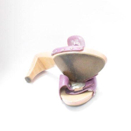 SALVATORE FERRAGAMO Lilac Sandal Platform Heels Size USA 8.5 Euro 38.5 Item8964 h