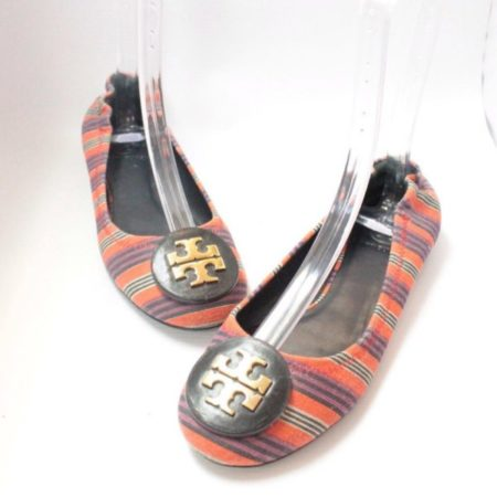 TORY BURCH Multicolor Striped Flats 9454 a
