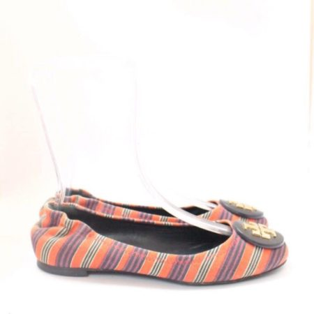 TORY BURCH Multicolor Striped Flats 9454 b