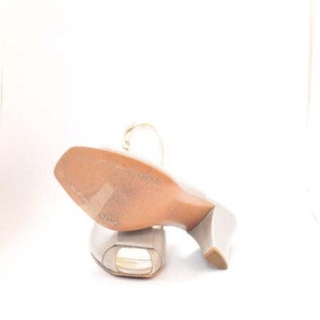 VALEA FIRENZE Slingback Grey Heels 12624 b