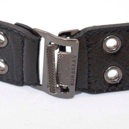 BURBERRY Black Patent Leather Belt Size 34 Item13715 b