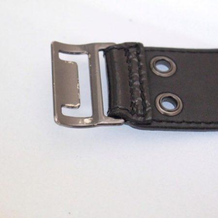 BURBERRY Black Patent Leather Belt Size 34 Item13715 c