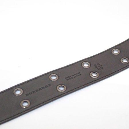 BURBERRY Black Patent Leather Belt Size 34 Item13715 e