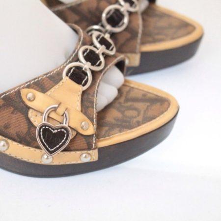 DIOR Tan Slip On Heels Size USA 8 Euro 38 Item12431 b