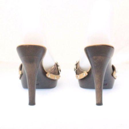 DIOR Tan Slip On Heels Size USA 8 Euro 38 Item12431 d