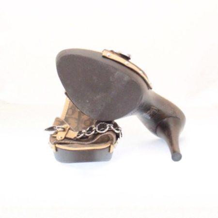 DIOR Tan Slip On Heels Size USA 8 Euro 38 Item12431 e