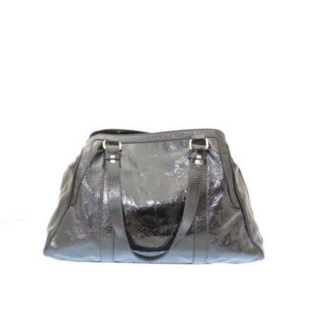 FENDI Black Patent Leather De Jour Tote Item13526 c