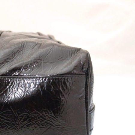 FENDI Black Patent Leather De Jour Tote Item13526 f