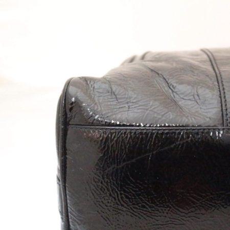 FENDI Black Patent Leather De Jour Tote Item13526 h