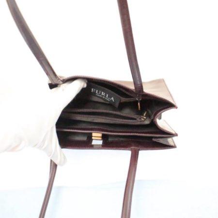 FURLA Maroon Leather Shoulder Bag Item3787 e
