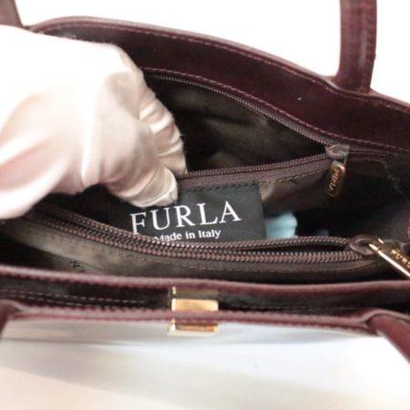 FURLA Maroon Leather Shoulder Bag Item3787 f