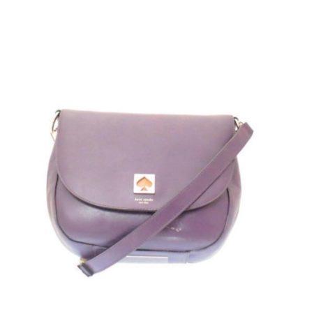 KATE SPADE Purple Leather Crossbody Item12489 a