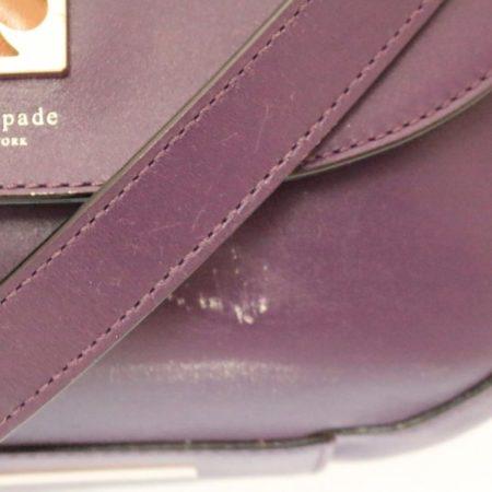 KATE SPADE Purple Leather Crossbody Item12489 j