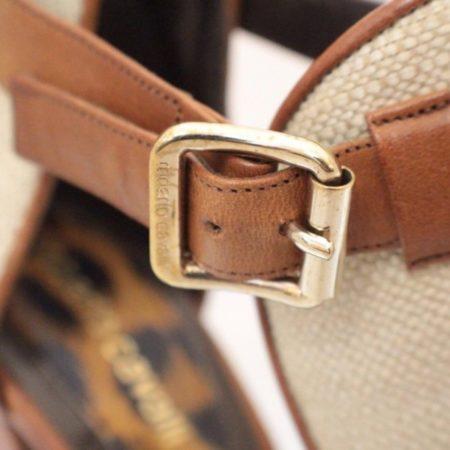ROBERTO CAVALLI Open Toe Bootie Size USA 10.5 Euro 40.5 Item3847 f