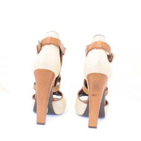 ROBERTO CAVALLI Open Toe Bootie Size USA 10.5 Euro 40.5 Item3847 i