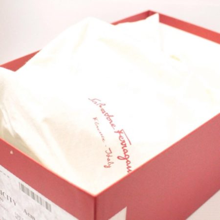 SALVATORE FERRAGAMO Leather Lace Up Sandal Size USA 7.5 Euro 37.5 Item13517 g