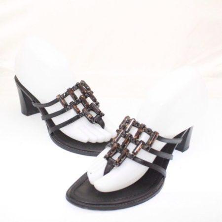 STUART WEITZMAN Black Heels Size USA 8 Euro 38 Item13533 a