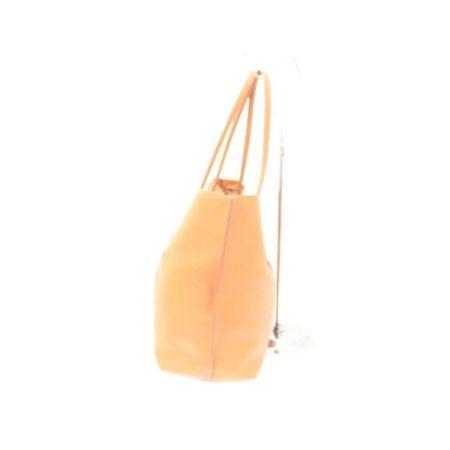 TODS Orange Leather Tote Item13529 b