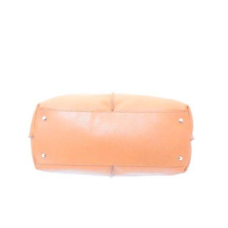 TODS Orange Leather Tote Item13529 c