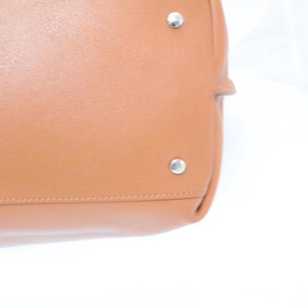 TODS Orange Leather Tote Item13529 d