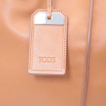 TODS Orange Leather Tote Item13529 f