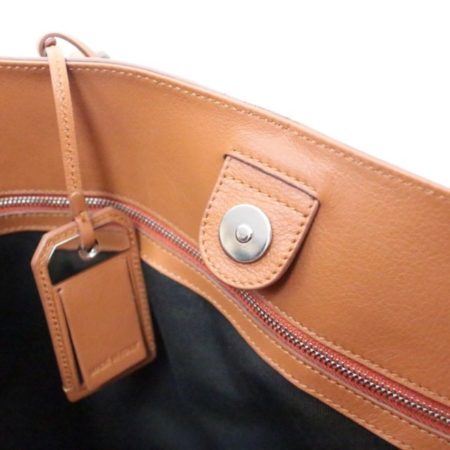 TODS Orange Leather Tote Item13529 h