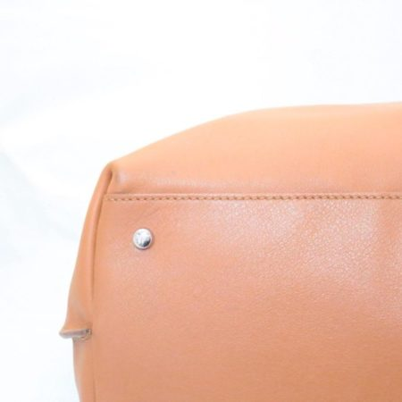 TODS Orange Leather Tote Item13529 i