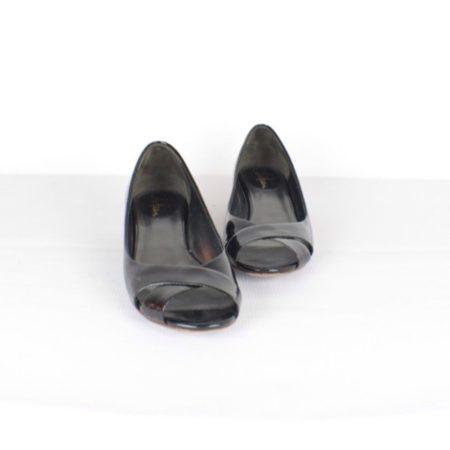 COLE HAAN Peep Toe Black Pumps Item14186 A