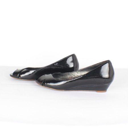 COLE HAAN Peep Toe Black Pumps Item14186 d