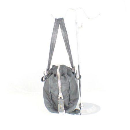 PRADA Black Leather Tessuto Hydra Shoulder Bag Item14939 c