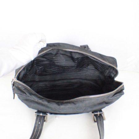 PRADA Black Leather Tessuto Hydra Shoulder Bag Item14939 e