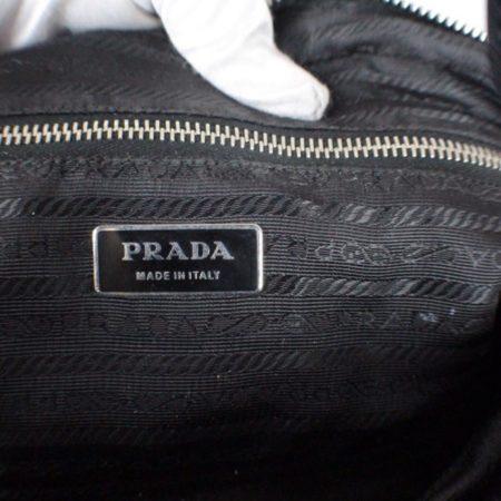 PRADA Black Leather Tessuto Hydra Shoulder Bag Item14939 g