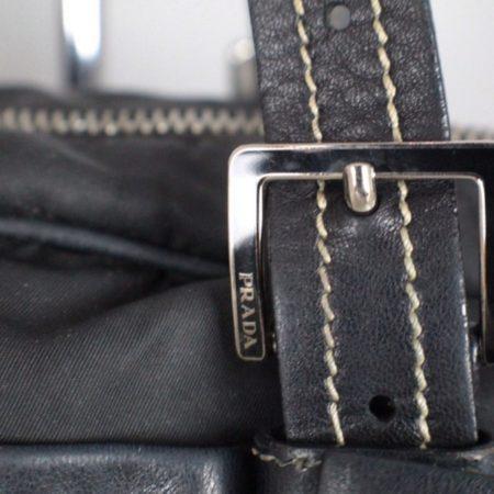 PRADA Black Leather Tessuto Hydra Shoulder Bag Item14939 h