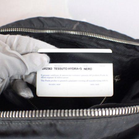PRADA Black Leather Tessuto Hydra Shoulder Bag Item14939 j