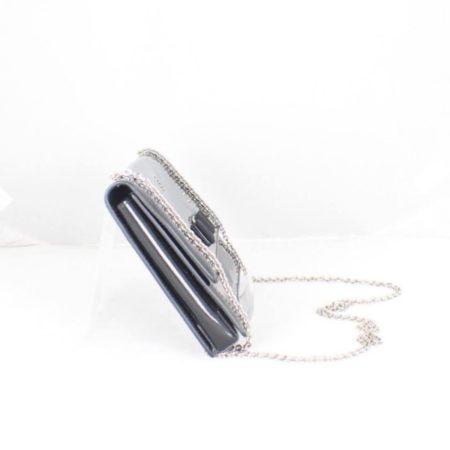 SALVATORE FERRAGAMO Black Patent Leather Evening Crossbody Item14969 c