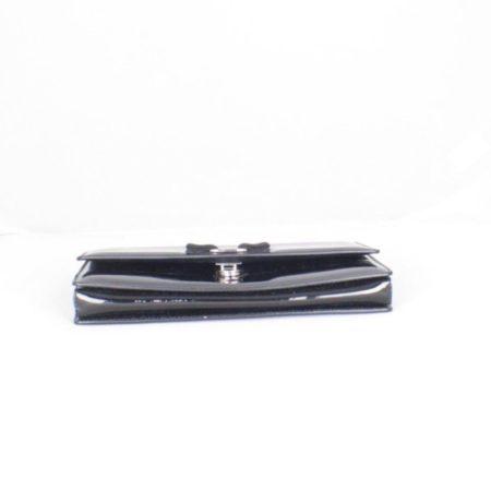 SALVATORE FERRAGAMO Black Patent Leather Evening Crossbody Item14969 d