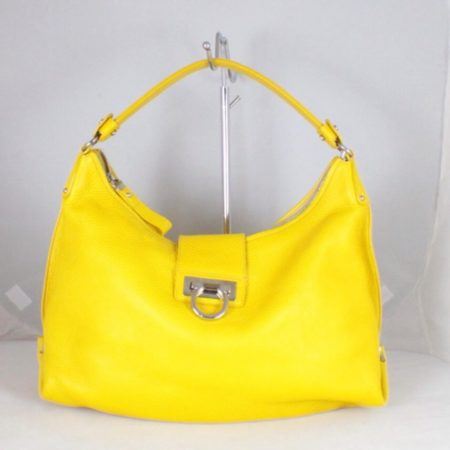 SALVATORE FERRAGAMO Yellow Sofia Tote Item14973 a