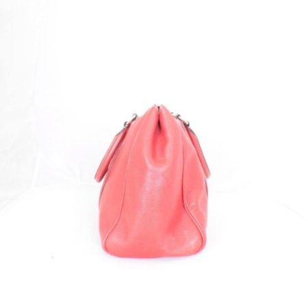 CAROLINA HERRERA Red Leather Matteo Tote Item16110 c