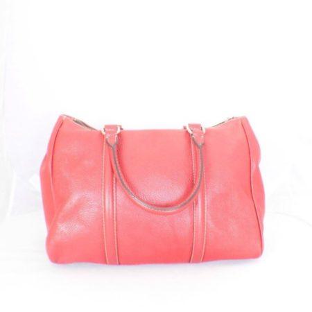CAROLINA HERRERA Red Leather Matteo Tote Item16110 d