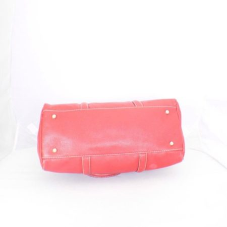 CAROLINA HERRERA Red Leather Matteo Tote Item16110 f