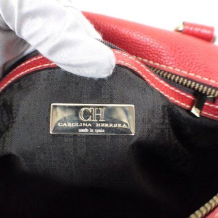 CAROLINA HERRERA Red Leather Matteo Tote Item16110 g