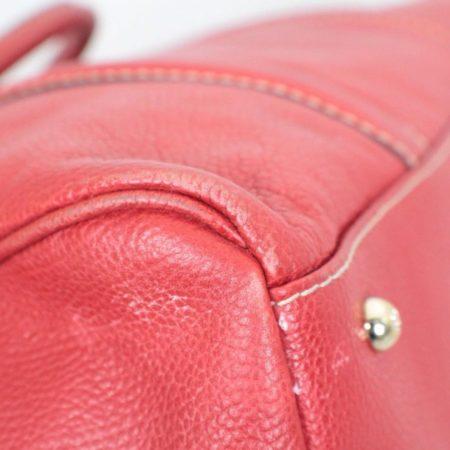 CAROLINA HERRERA Red Leather Matteo Tote Item16110 i